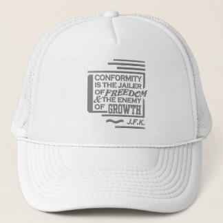 JFK quote hat - choose color