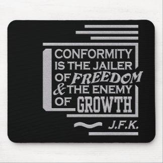 JFK quote mousepad