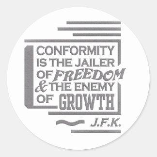 JFK quote stickers