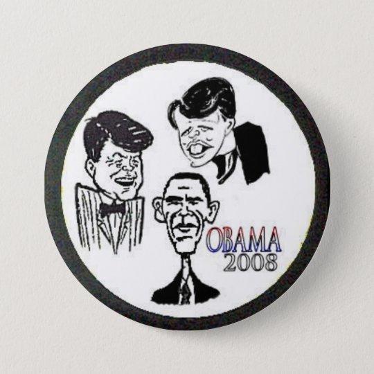 JFK/RFK/BHO Caricature Button