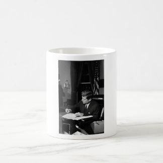 JFK Signing The Cuba Quarantine Basic White Mug