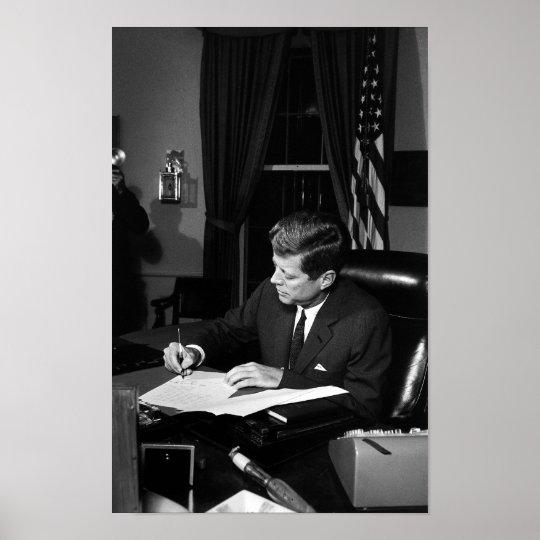 JFK Signing The Cuba Quarantine Poster