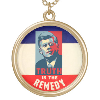 JFK: Truth is the Remedy Round Pendant Necklace