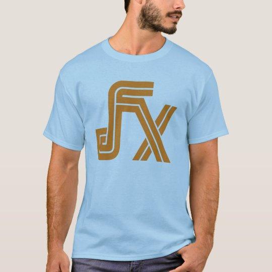 JFX Blue T-Shirt (Orange Logo)
