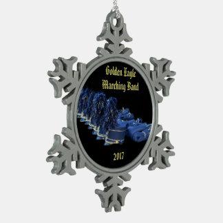 JHS  band snowflake Snowflake Pewter Christmas Ornament
