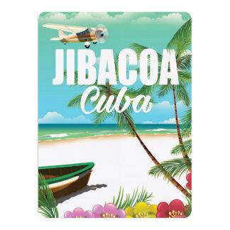Jibacoa beach vacation poster 17 cm x 22 cm invitation card