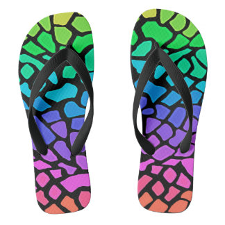 Jiggy Giraffe Flip Flops