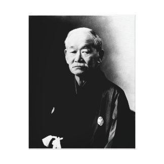 Jigoro Kano Wrapped Canvas Stretched Canvas Print