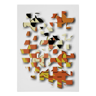 Jigsaw abstract puzzle poster