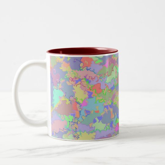 Jigsaw Design Two-Tone Coffee Mug