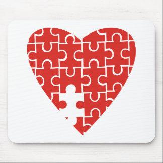 Jigsaw Heart Mouse Pad