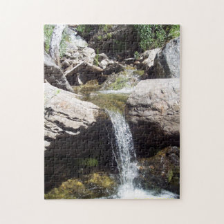 Jigsaw photo puzzle featuring Idaho stream scene.