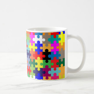 Jigsaw Pieces In Colour Coffee Mug