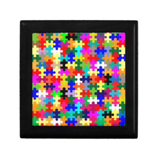 Jigsaw Pieces In Colour Gift Box