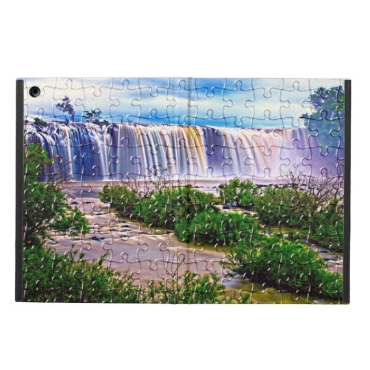 Jigsaw puzzle effect waterfall Ipad case