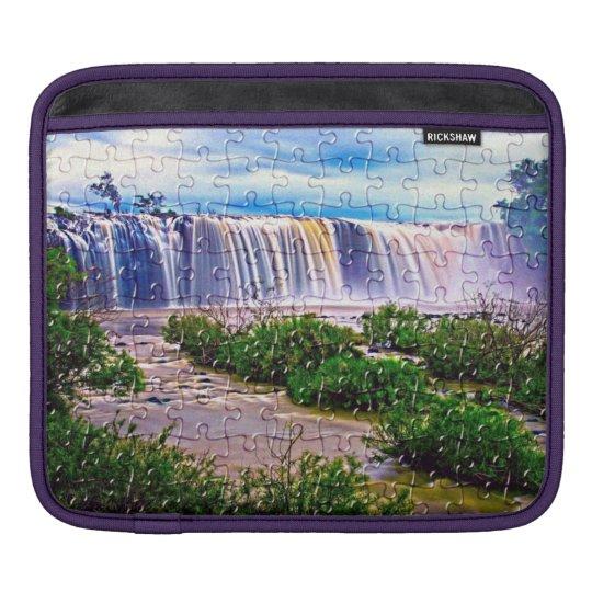 Jigsaw puzzle effect waterfall Ipad sleeve