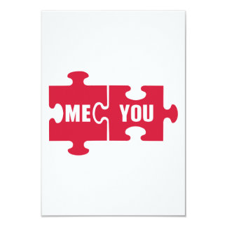 Jigsaw puzzle me you 9 cm x 13 cm invitation card