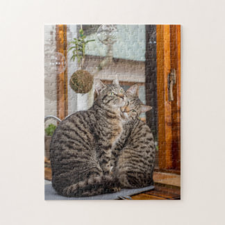 Jigsaw Puzzle of two cats together