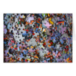 Jigsaw Puzzle Pieces Blank Card Greeting Cards