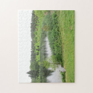 Jigsaw Puzzle with outdoor lake scene