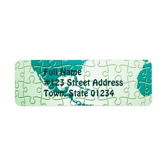 Jigsaw Puzzle World Mailing Label