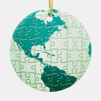 Jigsaw Puzzle World Ornament