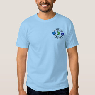 Jigsaw Puzzler blues and green T-shirt