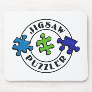 Jigsaw Puzzler clear background Mouse Pad