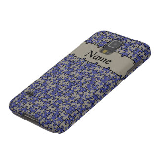 Jigsaw Stars blue gray personalized Case For Galaxy S5