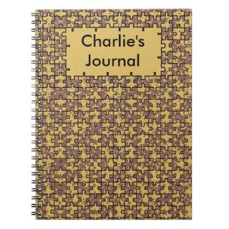 Jigsaw Stars pattern Personalized Notebooks