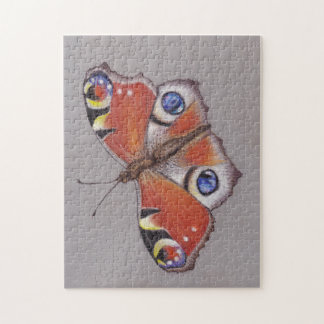 Jigsaw with Peacock Butterfly Design 11x14'' Jigsaw Puzzle