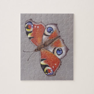 Jigsaw with Peacock Butterfly Design 8x10'' Jigsaw Puzzle