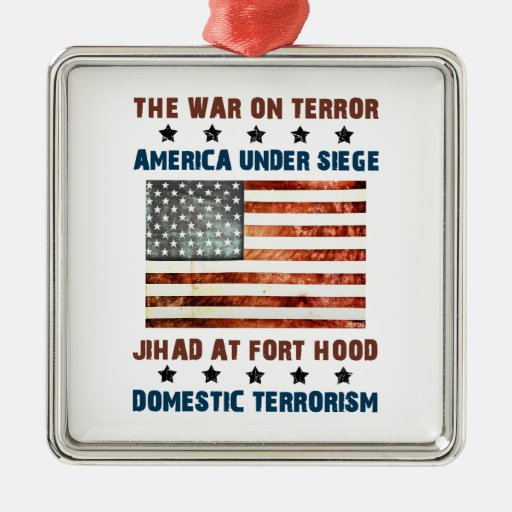 Jihad At Fort Hood Silver-Colored Square Decoration