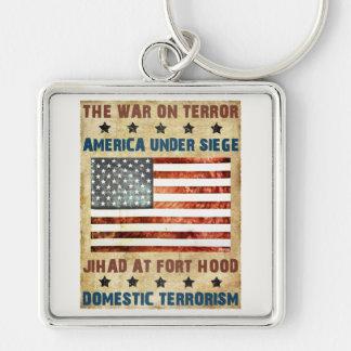 Jihad At Fort Hood Silver-Colored Square Key Ring