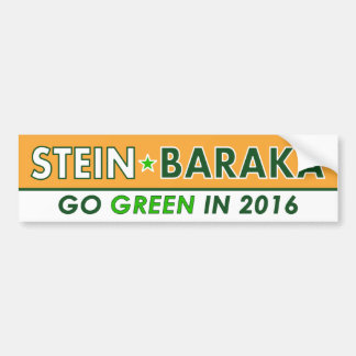 Jill Stein / Baraka - Green Party Bumper Sticker