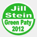 Jill Stein for President 2012 Green Party Round Sticker