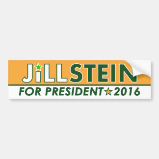 Jill Stein - Green Party Political Bumper Sticker