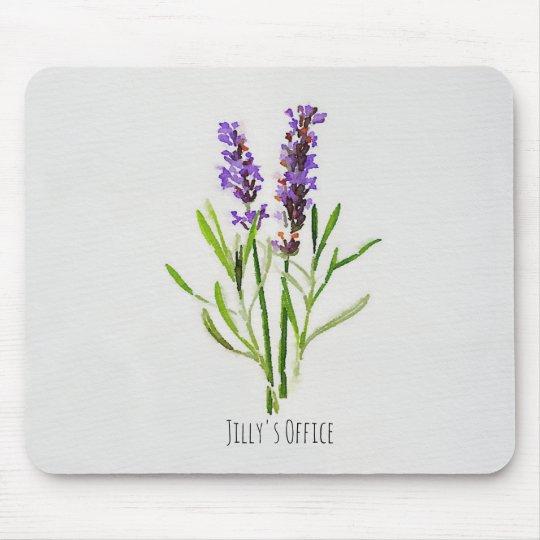 Jilly's Botanical Lavender Watercolor Mouse Mat