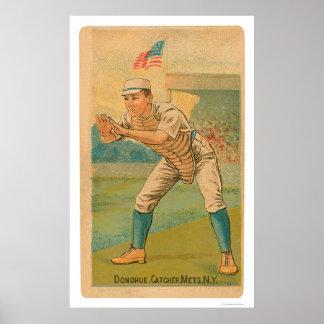 Jim Donohue Baseball Card 1887 Poster