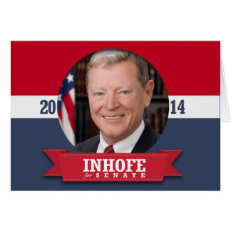 JIM INHOFE CAMPAIGN GREETING CARD