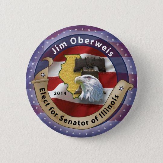 Jim Oberweis 6 Cm Round Badge