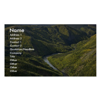 Jim River Canyon near Kanuti National Wildlife Ref Business Card Template