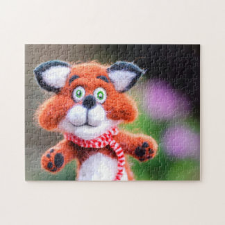 Jim the Fox Cute Toy Needle Felted Cub Puzzle