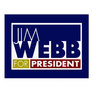 Jim Webb for President V1 Postcard
