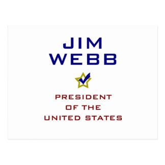 Jim Webb for President V2 USA Postcard