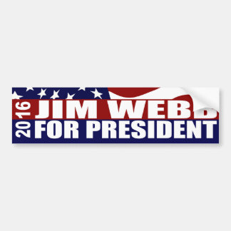 JIM WEBB President 2016 Bumper Sticker