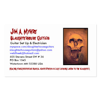 Jim Z Calling Card Business Card Template