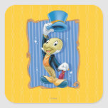 Jiminy Cricket Lifting His Hat Stickers