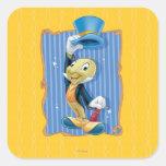 Jiminy Cricket Lifting His Hat Stickers