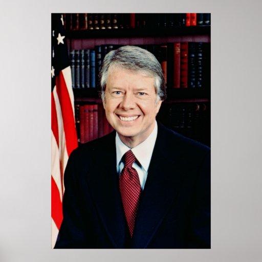 Jimmy Carter US president Poster